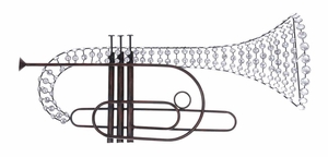 "53012 Trumpet Wall Decor 33""H, 13""W- Reflects Your Love For Music Brand Woodland"