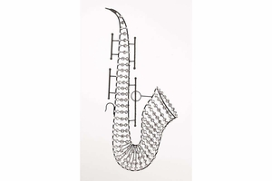 """53013 Metal Saxophone 35""""H, 16""""W- Makes The Home Decoration Vibrant Brand Woodland"""