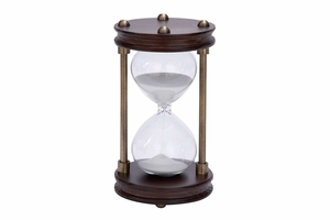 53400 Wood Metal Glass Sand Timer 15 Minute Brand Woodland