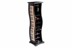 "53550 Piano Wine Rack 49""H 14""W With Seven Racks And 1Drawer Brand Woodland"