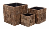 54001 Natural Planter Insert S/3 - Makes Home Gardening A Passion Brand Woodland