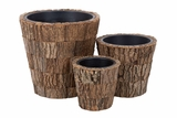 54002 Natural Planter S/3: Home Gardening In Style Brand Woodland
