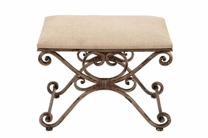 "54300 Metal Stool 24""W, 18""H- Elegant Seating Addition To Anyplace Brand Woodland"
