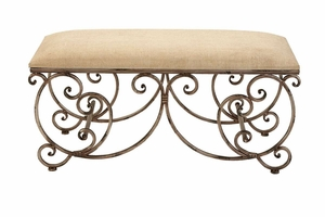 """54301 Metal Bench 40""""W, 18""""H- Affordable Furniture Galore Brand Woodland"""