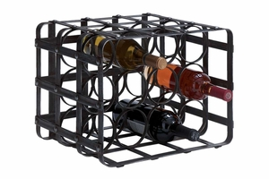"54404 Metal Wine Rack 16""W, 12""H Brand Woodland"