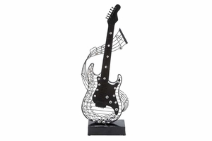 "54602 Metal Acrylic Guitar 27""H, 10""W- Beautiful Handcrafted Guitar Brand Woodland"