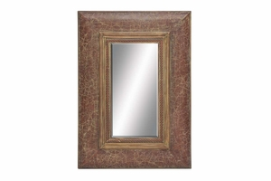 "54700 Wood Mirror 52""H, 36""W- Low Priced Decor Solution Brand Woodland"