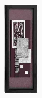 "55""H Contemporary Wood Framed art with Shiny Matte Finish Brand Woodland"