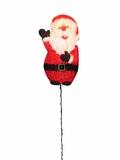 "57"" Tinsel Santa Garden Stake with 50 Lights by Alpine Corp"