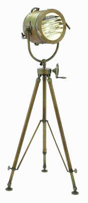 "58""H Metal Tripod Spot Light Adjustable Lamp with Handle Brand Woodland"
