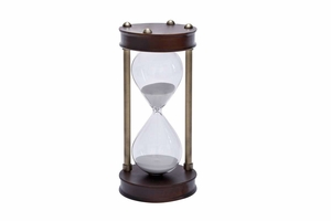 58199 Wood Metal Glass Sand Time, 1Hour and 30 Minute Brand Woodland