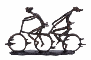 """58273 Polystone Bike 13""""H, 21""""W- Table Top Decor With Passion Brand Woodland"""