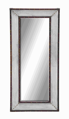 "59""H Classic Metal Wall Mirror with Thick and Broad Frame Brand Woodland"
