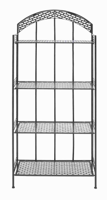 "59""H Metal Baker Rack in Dark Brown Color with Sturdy Metal Brand Woodland"