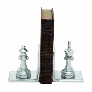 """6"""" H Attractive Aluminium Bookend Pair with Broad Stable Base Brand Woodland"""