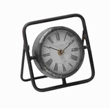 "6"" H Attractive and Beautiful Metal Clock with Dark Frame Brand Woodland"