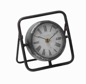 """6"""" H Attractive and Beautiful Metal Clock with Dark Frame Brand Woodland"""
