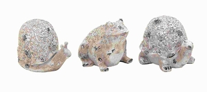 "6"" H Durable and Long Lasting Poly Stone Animals (Set of 3) Brand Woodland"