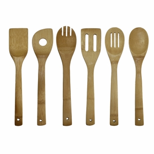6 Piece Bamboo Cooking Utensil Set by Oceanstar