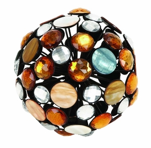 "6"" Rust Free Metal Jewel Ball Designed with Intricte Art Brand Woodland"