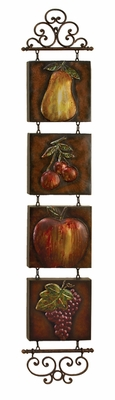 "60"" Classic Fruits Garten Metal Wall Decor Sculpture Art Brand Woodland"