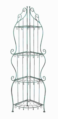 """60""""H Metal Corner Rack with Conventional or Modern Style Brand Woodland"""
