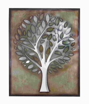 "60""H Metal Tree Wall Decor Lavished with Assorted Colors Brand Woodland"