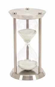 60 Minute Nautical Ship Sand Timer, One Hour Metal Hour Glass Brand Woodland