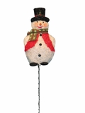 "60"" Tinsel Snowman Garden Stake with 50 Lights by Alpine Corp"