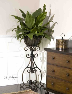 60090 Costa Del Sol Potted Greenery: Low Cost Plantation Themed Decor Brand Uttermost