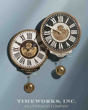 6018 V. Bartolini Clock Black: Can Be Used Anywhere Even For Gift Brand Uttermost