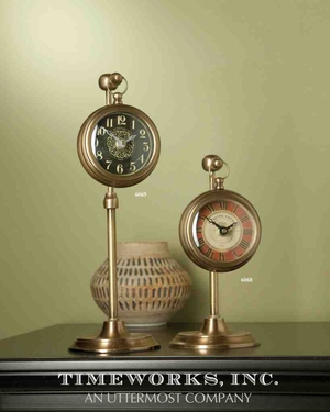 6069 Pocket Watch Woodburn Brass: Unique Table Decor With Utility Brand Uttermost