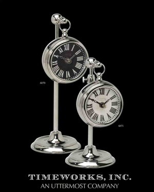 6070 Pocket Watch Nickel Marchant Cream: A Must To Have Table Decor Brand Uttermost