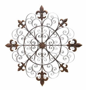 """63250 Metal Wall Decor 42""""D: Unique Fabrication Makes It Special Brand Woodland"""