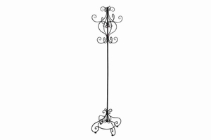 "63256 Metal Coat Rack 72""H, 14""W- Multipurpose Hanger Stand Brand Woodland"
