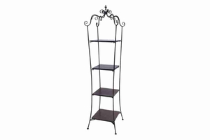 "63258 Metal Wood Tier Shelf 75""H, 19""W- looks like a floor decor item Brand Woodland"