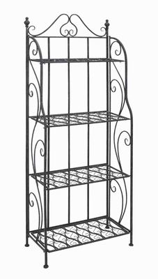 "64""H Metal Bakers Rack with Classic Design in Black Matte Finish Brand Woodland"