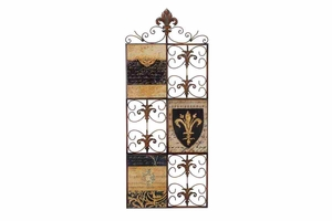 "64304 Metal Wood Wall Decor 34""H, 14""W: Fashion Forever Brand Woodland"