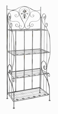 "65""H Metal Baker Rack in Polished Surface and Curved Design Brand Woodland"