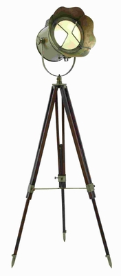 "65""H Metal Wood Tripod Spot Light with Adjustable Stand Brand Woodland"
