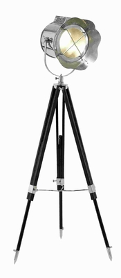 """65""""H Metal Wood Tripod Spot Light with Adjustable Wooden Stand Brand Woodland"""