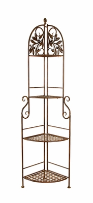 "66"" Classic Style Jasmine 4 Tier Metal Corner Rack Shelf Brand Woodland"