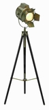 "66"" H Unique Metal Wood Tripod Spot Light with Metal Fixtures Brand Woodland"