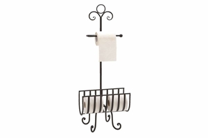 """66015 Metal Toilet Paper Holder 33""""H, 13""""W- Affordable Bath Accents Brand Woodland"""