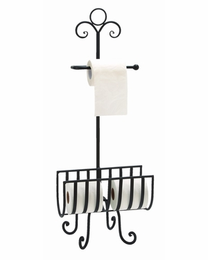 "66015 Metal Toilet Paper Holder 33""H, 13""W- Affordable Bath Accents Brand Woodland"