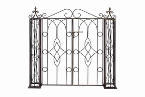 "66258 Metal Garden GATE 50""H, 43""W- Completing Look To Garden Decor Brand Woodland"