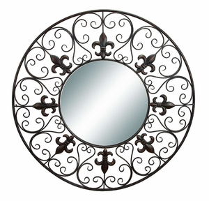 "66653 Metal Wall Mirror 40""D- Fine Fabrication Makes It Elegant Brand Woodland"