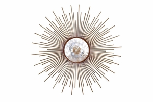 "66714 Metal Capiz Wall Decor 36""D- Unique And Distinguished Decoration Brand Woodland"
