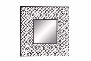 "66720 Metal Mirror 24""H, 24""W- More Than Just The Mirror Brand Woodland"