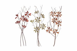 66733 Metal WALL DECOR 3 ASST - Beauty Of Modern Metal Art Brand Woodland